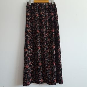 Floral Maxi Skirt S